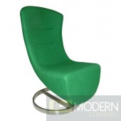 Modern Green wool Lay Lounge chair