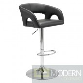 Zuo Modern Contemporary Black Hark Adjustable Bar Stool