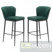 Tolivere Bar Chairs Velvet (Set of 2)