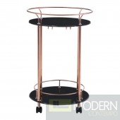 Plato Serving Cart, Rose Gold