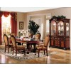 ACW 04075 Chateau De Ville Dining Table in Cherry and Fabric Chairs by Acme w/Options