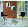 Modero Adjustable Black Bar Stool