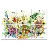 Modrest Butterfly Chaos 6-Panel Photo on Canvas