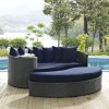 SOJOURN OUTDOOR PATIO SUNBRELLA® DAYBED IN ANTIQUE CANVAS