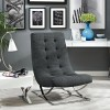 Slope Fabric Lounge Chair Grey