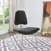MAYA UPHOLSTERED VELVET LOUNGE CHAIR
