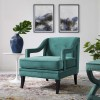 Corinne Button Tufted Performance Velvet Armchair