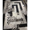 QBoss -  White light Grey dark Black Cowhide Rug