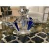 "Ultra Marine Crystal Perfume Bottle 4.75"""