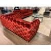 Anjolie Red Velvet Sofa & Loveseat Living room set