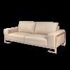 Mia Bella Gianna Leather Standard Sofa in Peach RoseGold