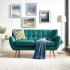 Remark Fabric loveseat Teal