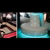 Zuritalia Custom LED Lit Clear Form Furniture