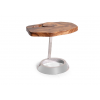 Verona - Suarina Wood and Polished Stainless Steel  End Table