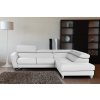 Accenti Italian Leather Sectional WHITE